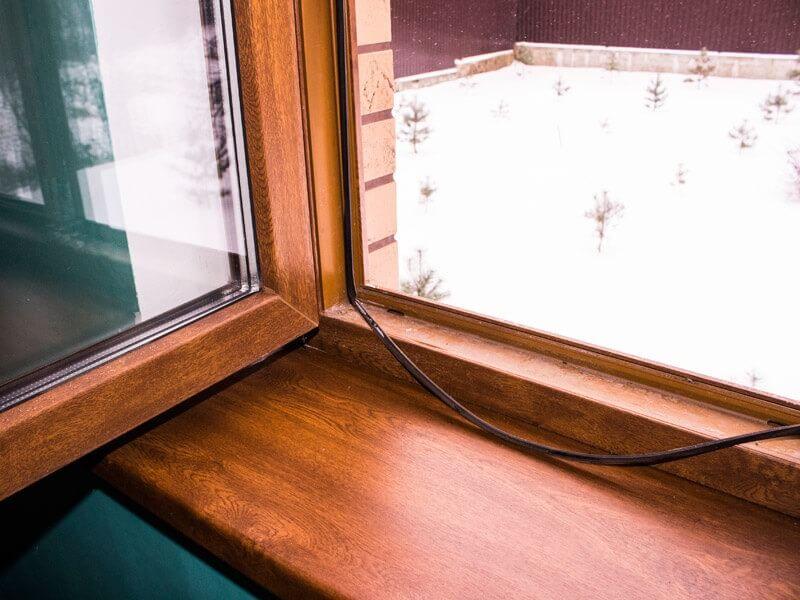 замена уплотнителя в деревянном окне